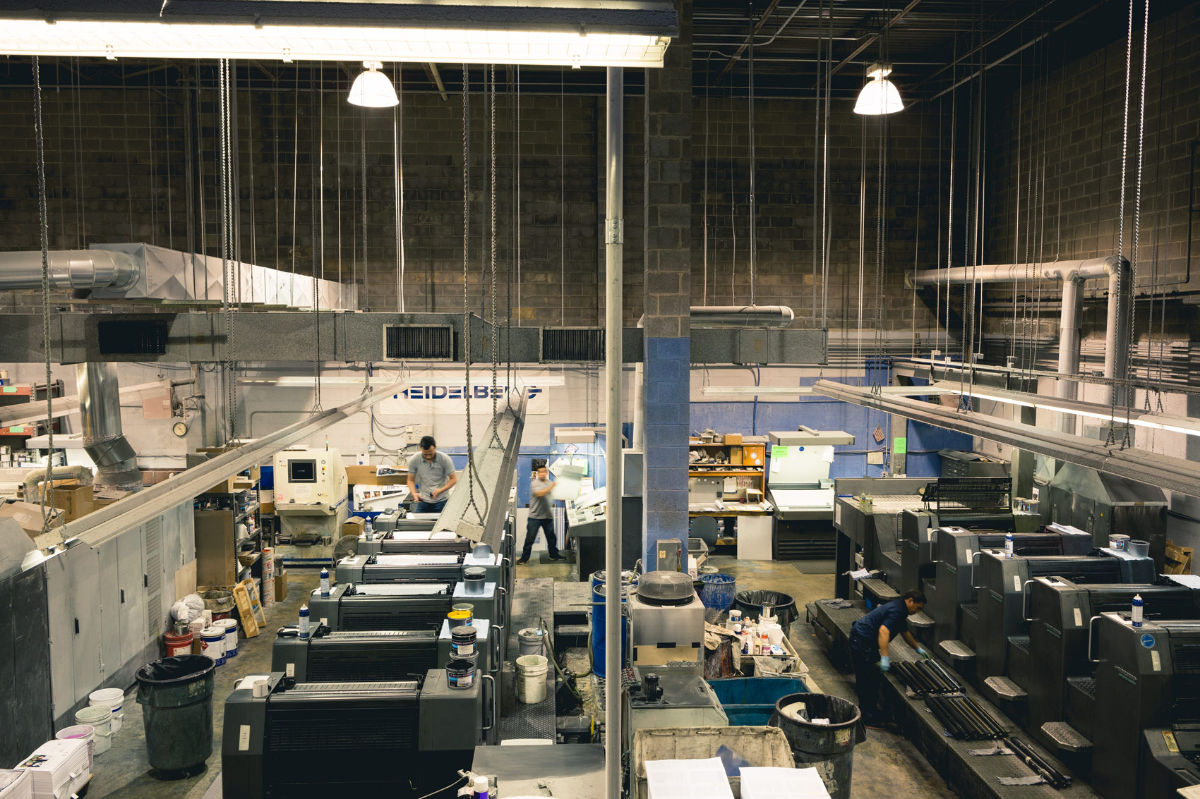 printing press room for washington dc industrial photography