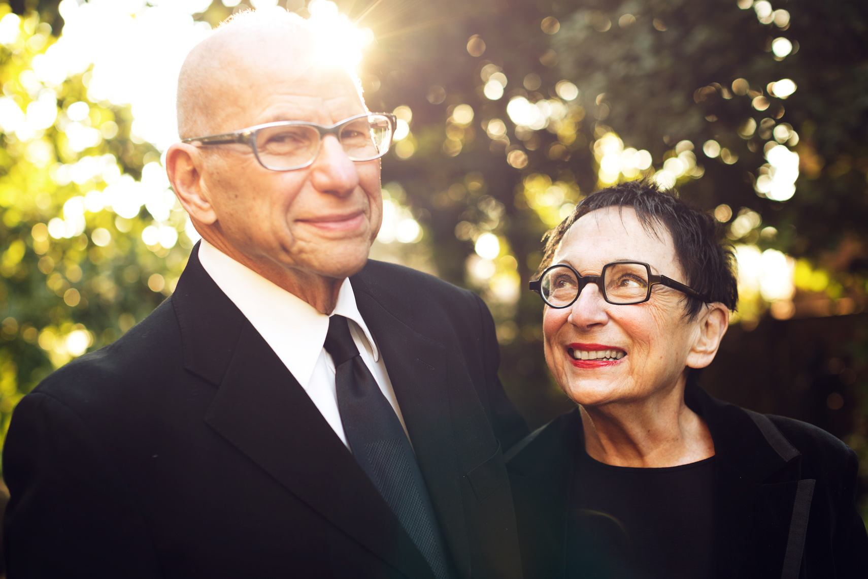 elderly couple with unique glasses for washington dc editorial photography
