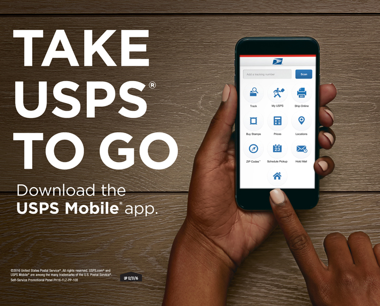 finger using usps app for advertisement, washington dc commercial photography