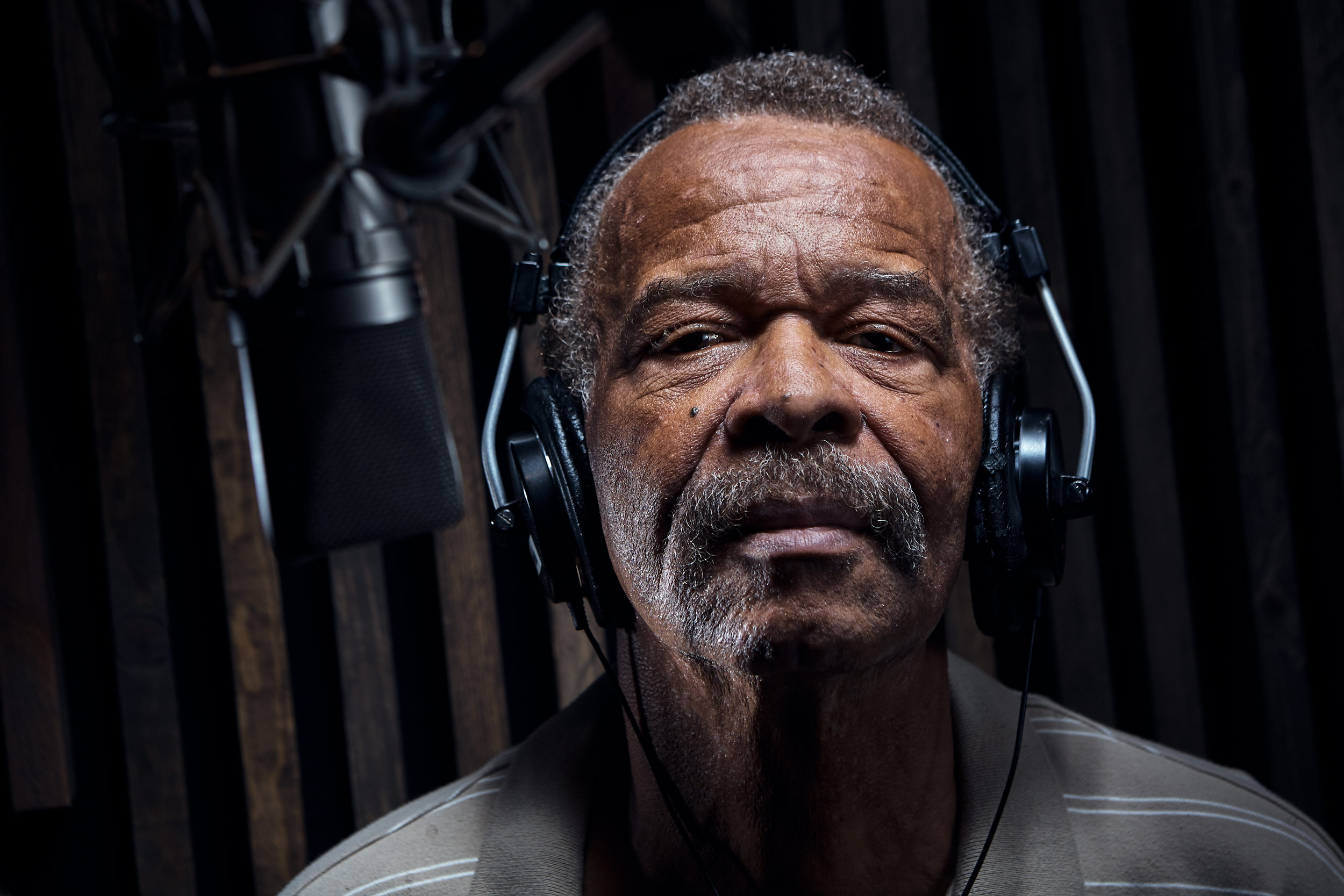 Al Johnson at recording studio, washington dc portrait photography