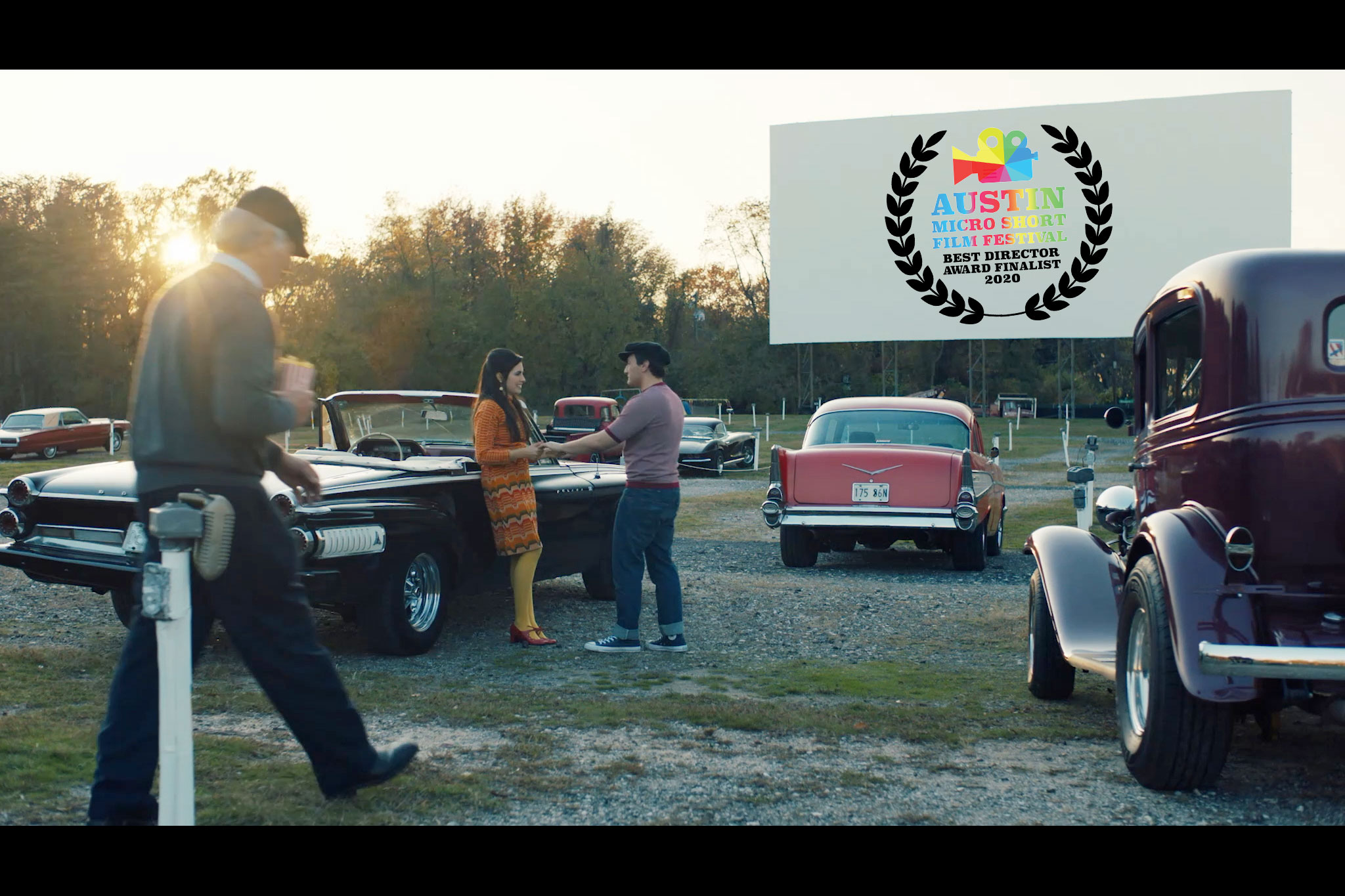 classic cars at drive-in theater, washington dc video production