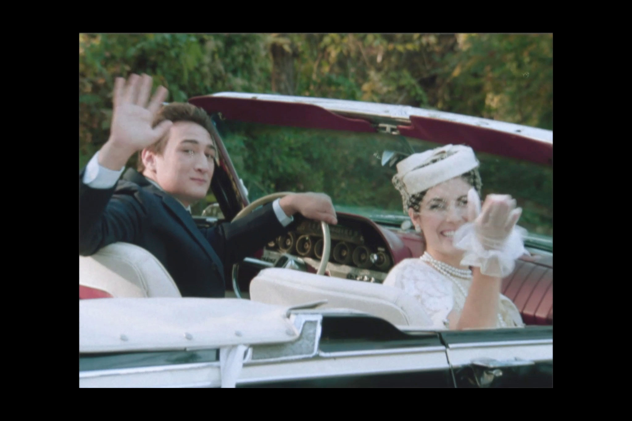 1960s couple in classic car, washington dc video prodcuction