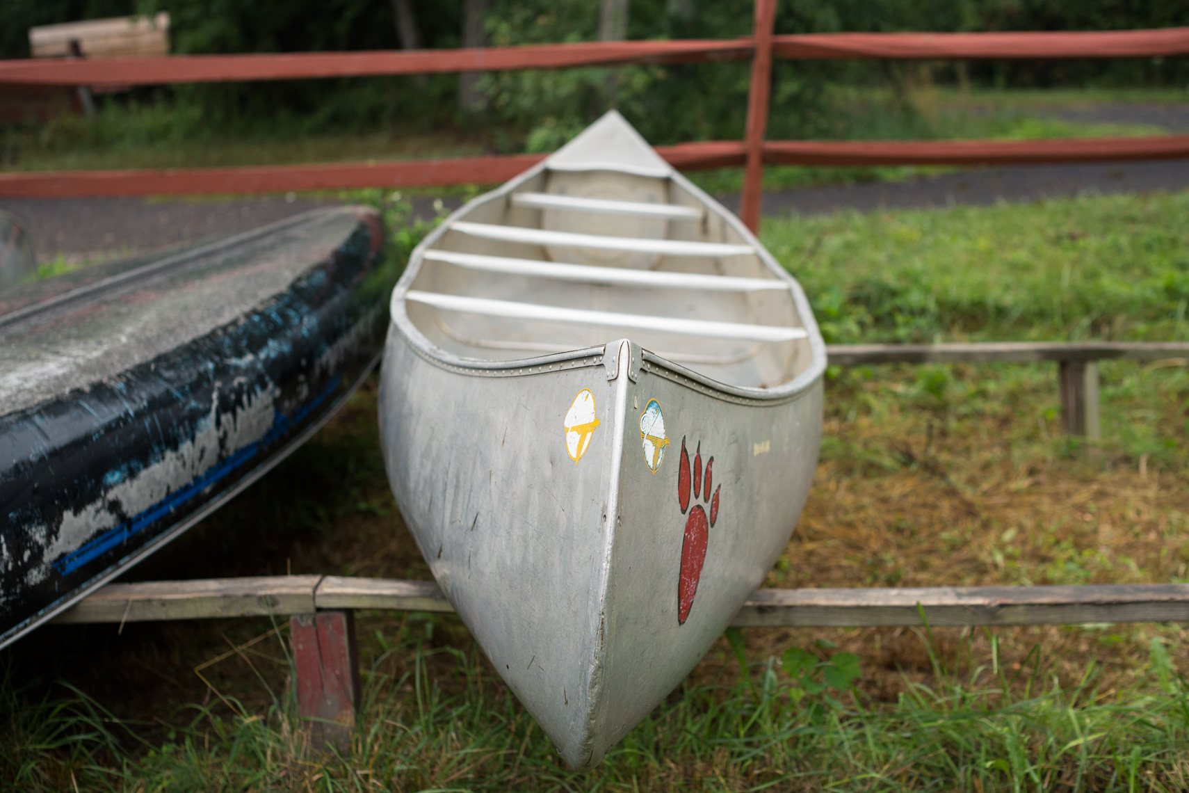 canoes in grass, washington dc photojournalism