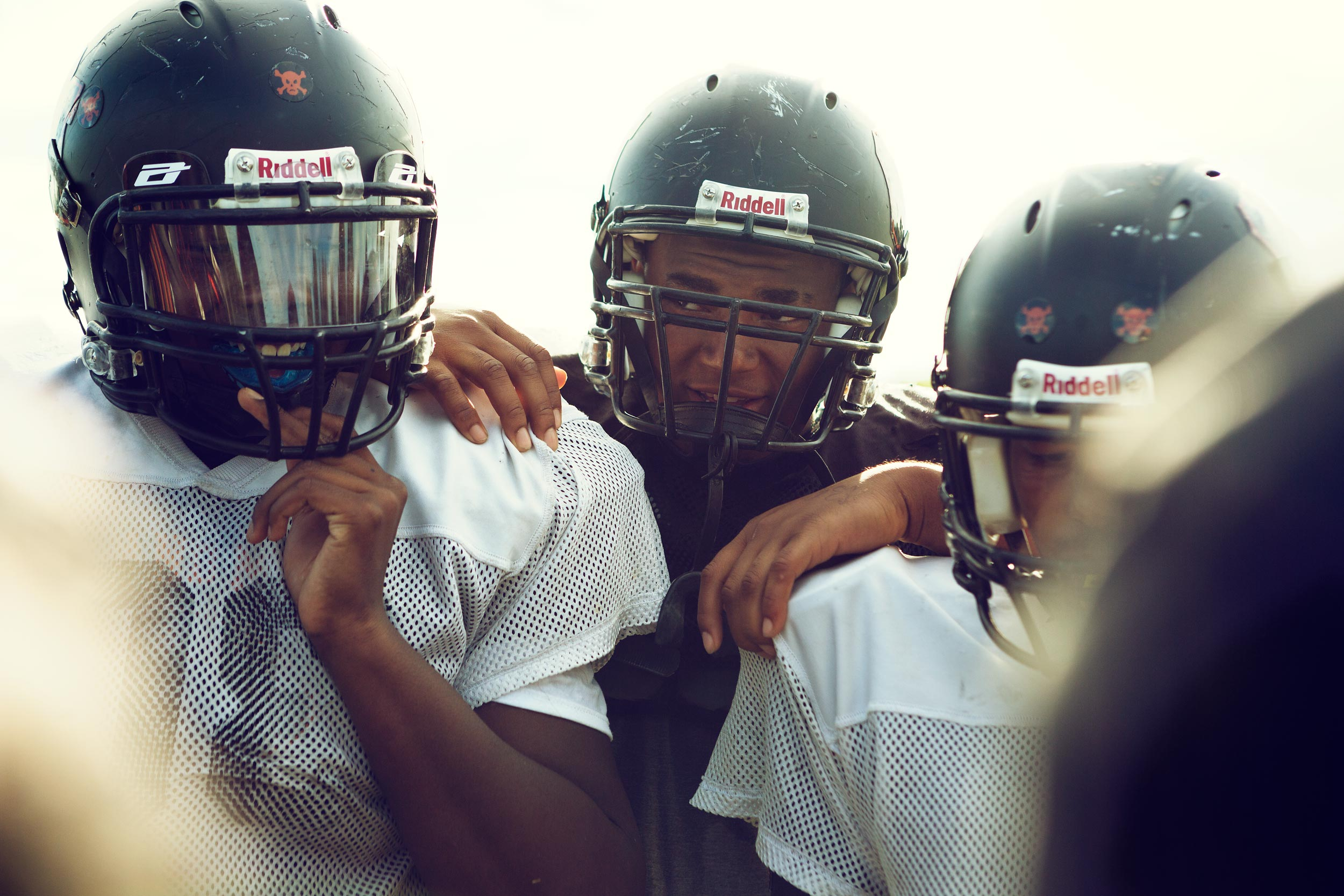 high school football huddle, washington dc commercial photography