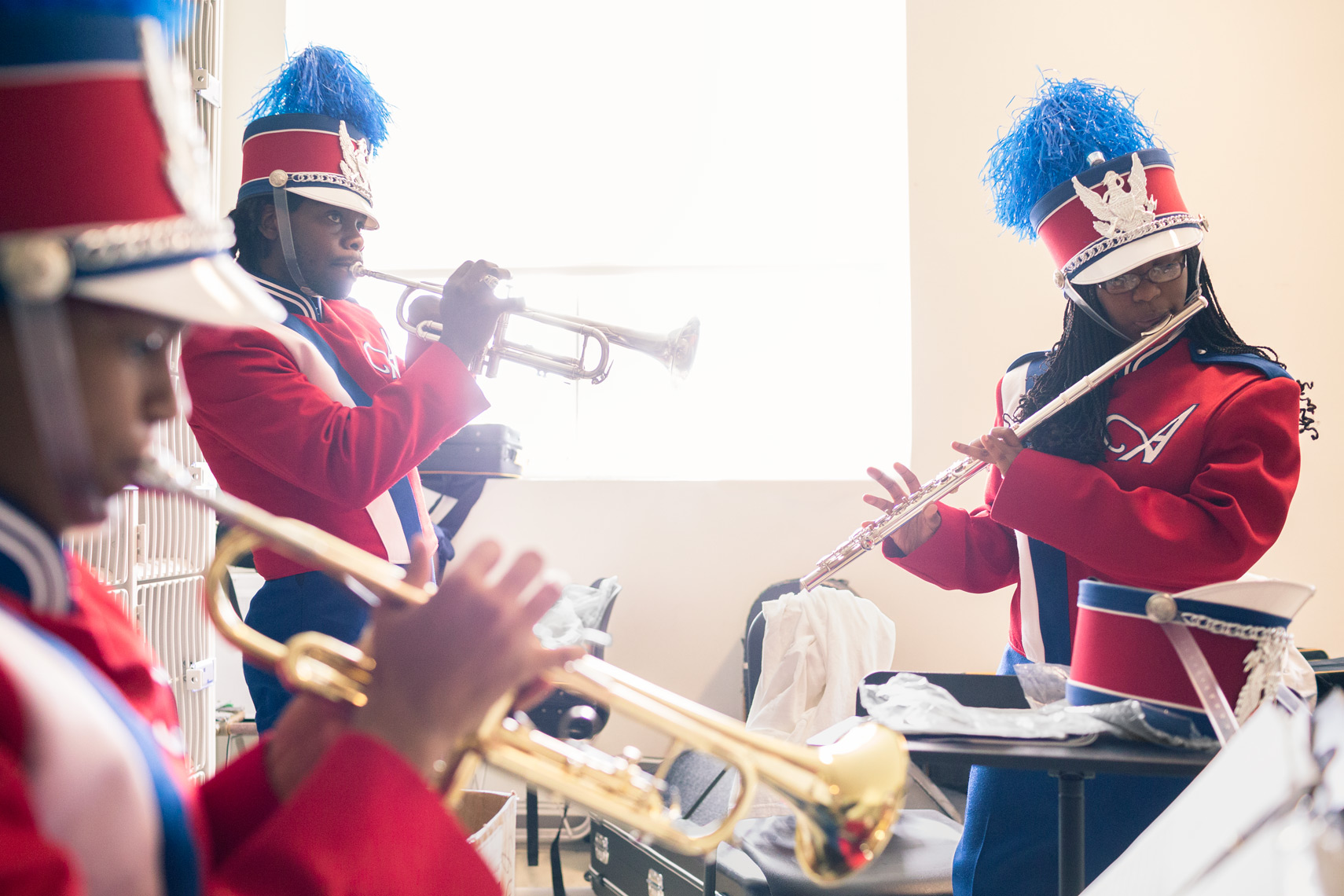 marching band rehearses for washington dc commercial photography