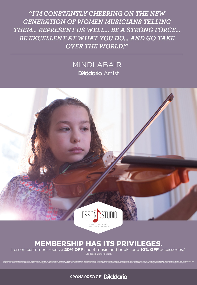 girl playing violin by window for music & arts advertisement, washington dc commercial photography