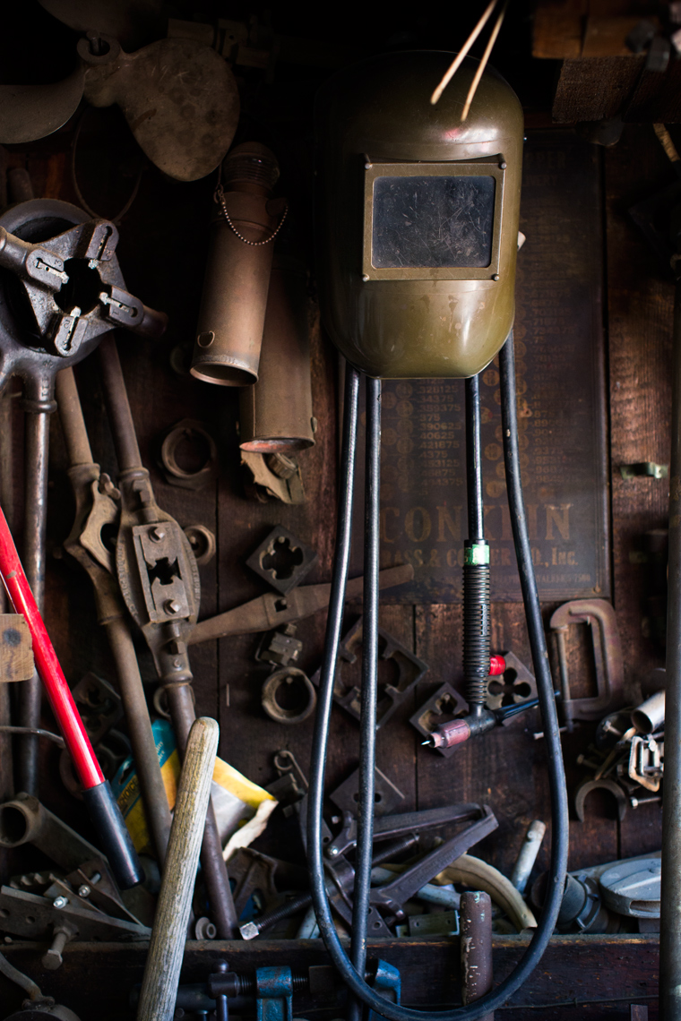 boat repair tools hanging for washington dc industrial photography