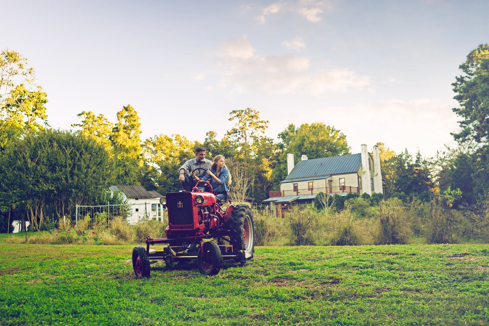 tractor driving lessons at farm for washington dc commercial photography
