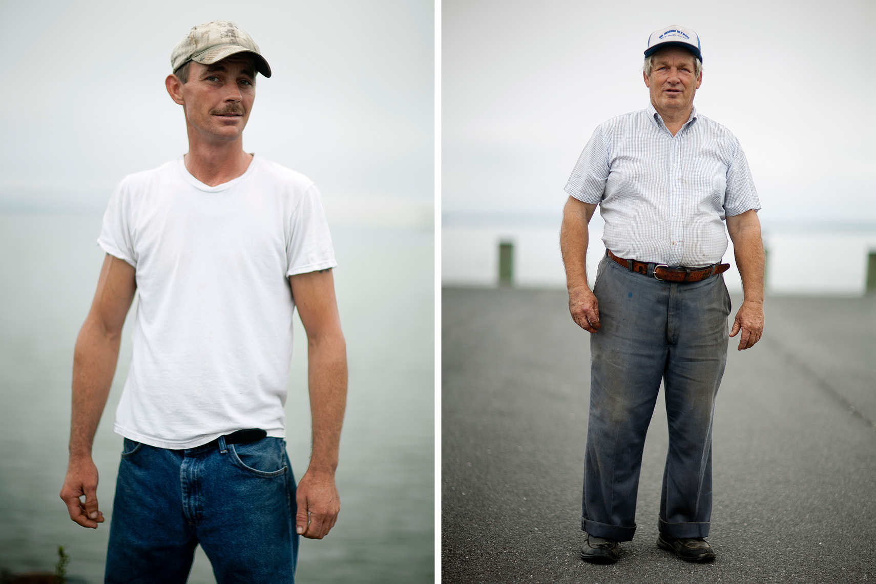 watermen standing on dock for washington dc editorial photography