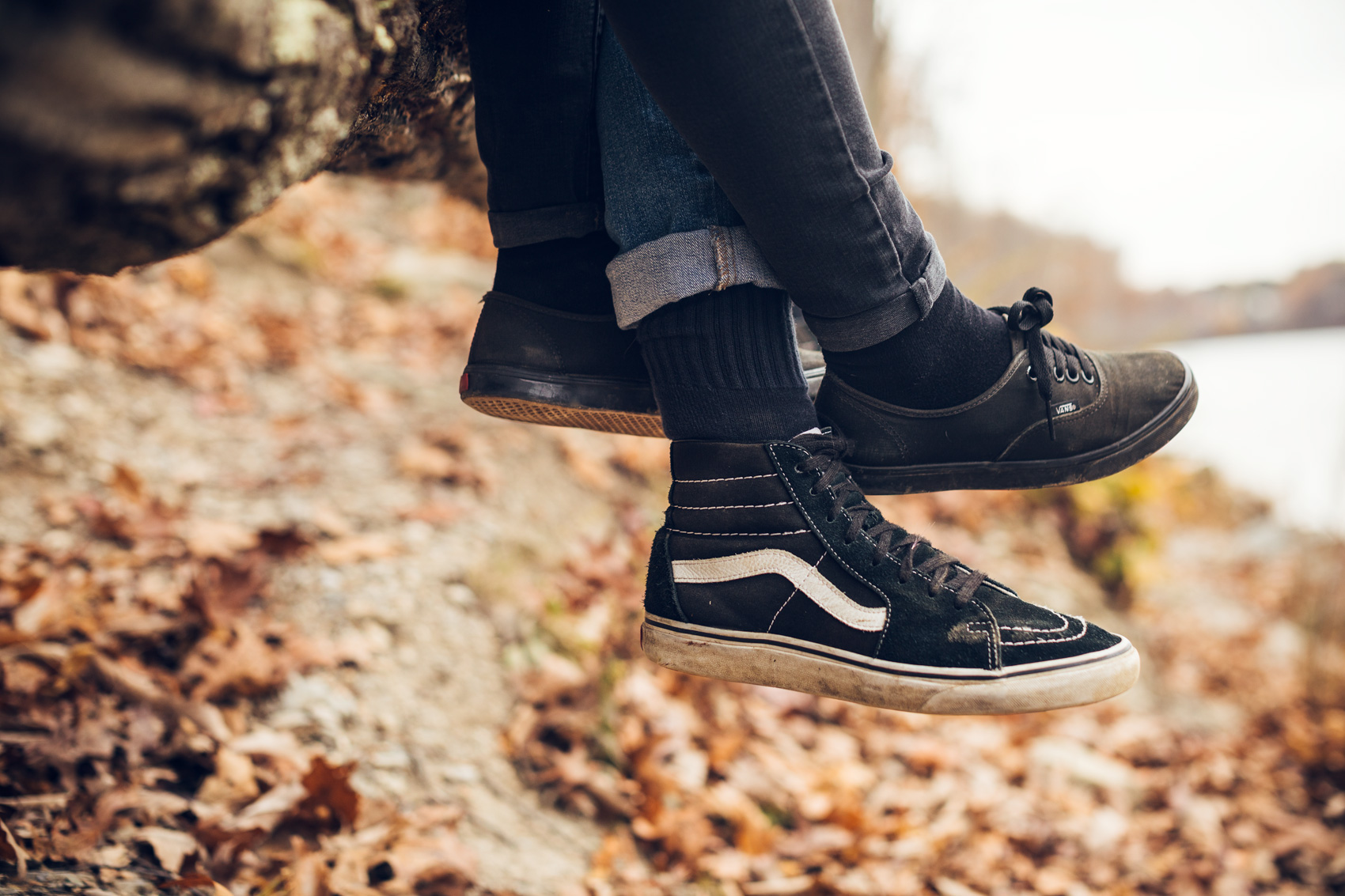 intertwined legs with vans ward lo sneakers for washington dc commercial photography